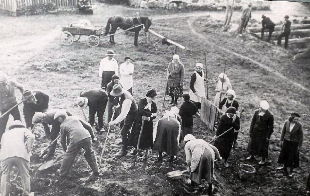 1937. Esise korrastamine. Fotoalbum Sänna rmtk  1917-1967.